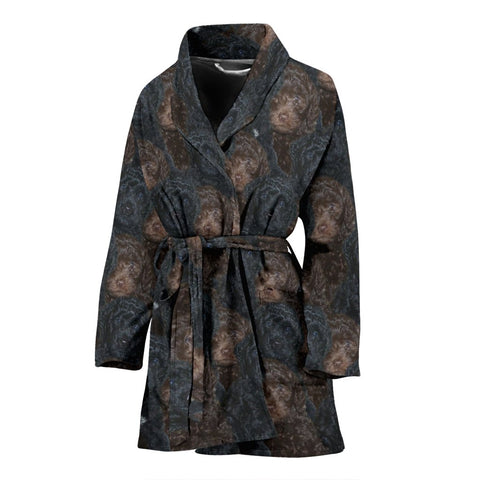 Amazing Barbet Dog Print Women's Bath Robe-Free Shipping
