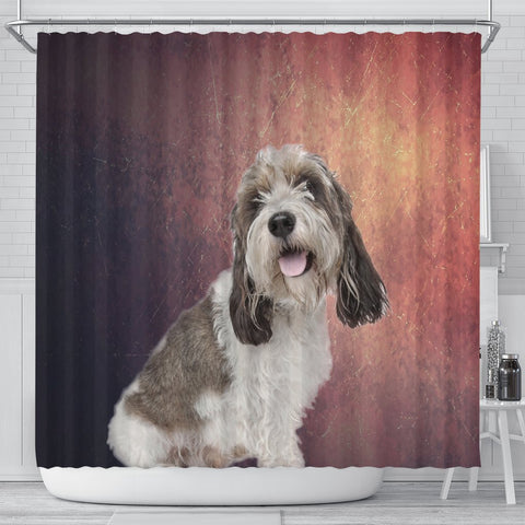 Cute Petit Basset Griffon Vendeen Print Shower Curtains-Free Shipping