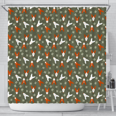 Ibizan Hound Dog Faces Print Shower Curtains-Free Shipping