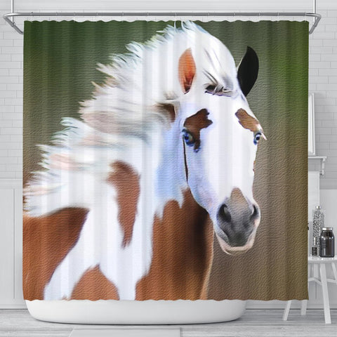 Gypsy horse Print Shower Curtain-Free Shipping