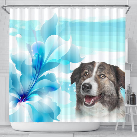 Aidi Dog Print Shower Curtain-Free Shipping