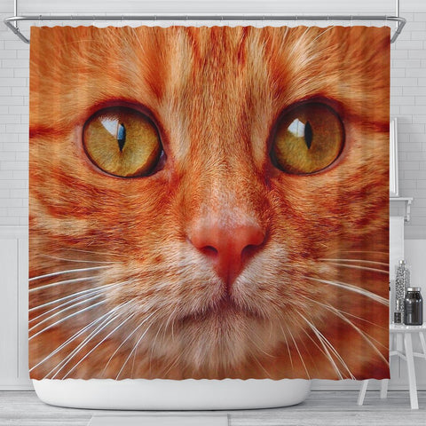 Lovely Cat Face Print Shower Curtains-Free Shipping