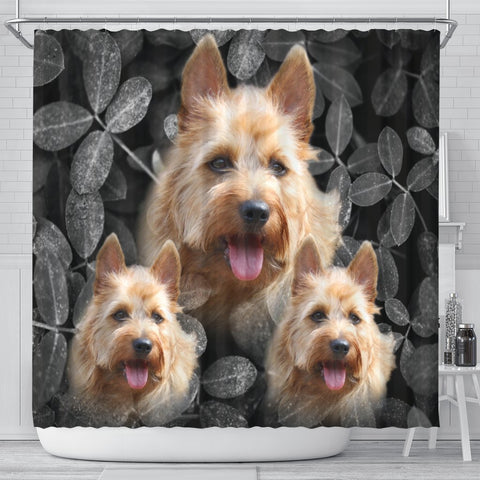Cute Australian Terrier Print Shower Curtains-Free Shipping