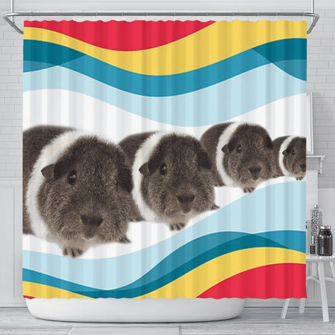 Rex guinea pig Print Shower Curtain-Free Shipping