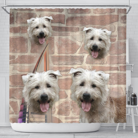 Lovely Glen of Imaal Terrier Print Shower Curtains-Free Shipping