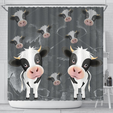 Cute Cow Print Shower Curtain-Free Shipping