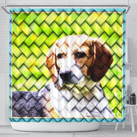 Lovely Beagle Dog Art Print Shower Curtains-Free Shipping