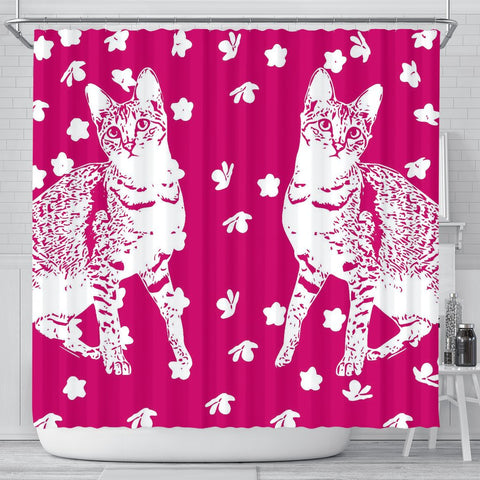 Savannah cat Print Shower Curtain-Free Shipping