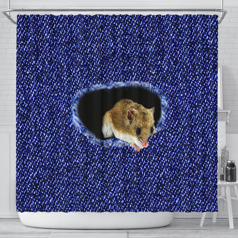 Chinese Hamster Print Shower Curtains-Free Shipping