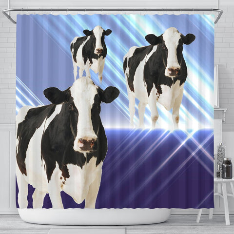 Girolando Cattle (Cow) Print Shower Curtain-Free Shipping