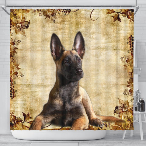 Cute Malinois Dog Print Shower Curtains-Free Shipping