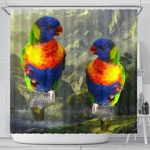 Lories And Lorikeets Bird Print Shower Curtains-Free Shipping