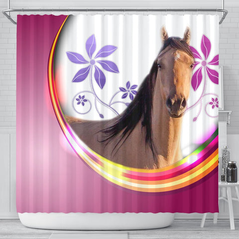 Kiger Mustang Horse Print Shower Curtain-Free Shipping