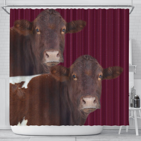 Pinzgauer cattle (Cow) Print Shower Curtain-Free Shipping