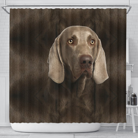 Weimaraner Dog Print Shower Curtain-Free Shipping