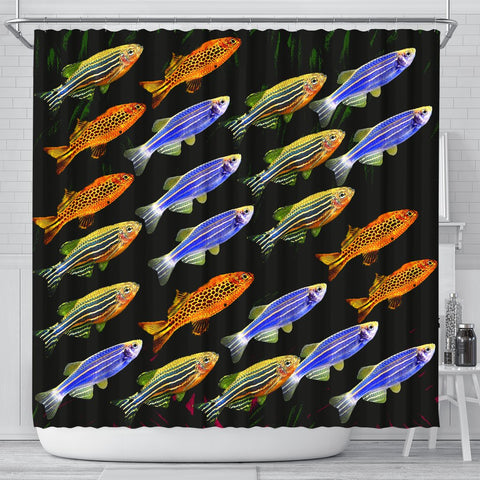 Slender Danios Fish Print Shower Curtains-Free Shipping