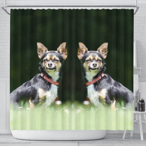 Lovely Chihuahua Dog Print Shower Curtains-Free Shipping
