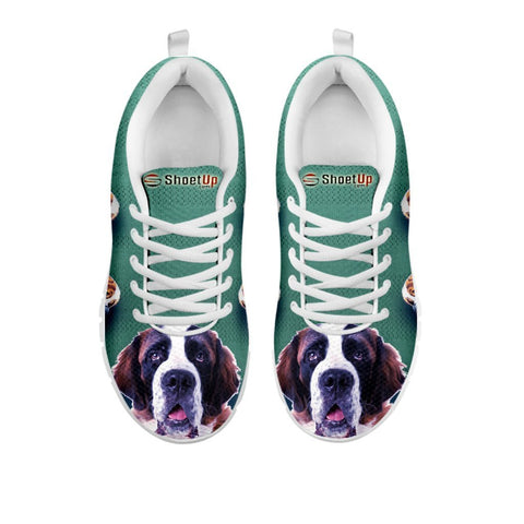 Amazing St. Bernard Dog-Women's Running Shoes-Free Shipping-For 24 Hours Only-Paww-Printz-Merchandise