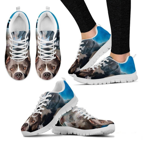 Pit Bull Dog Print Running Shoe (Women/Men)- Free Shipping-Paww-Printz-Merchandise