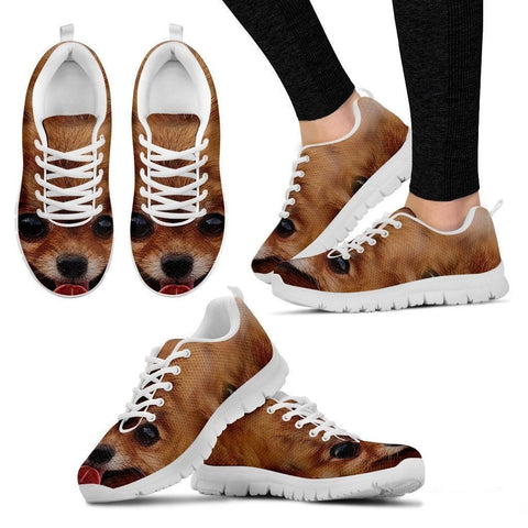 Pomeranian Dog Print Running Shoe (Men And Women)- Free Shipping-Paww-Printz-Merchandise