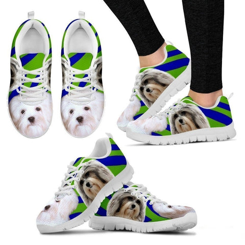 White Lowchen Dog Running Shoes For Women-Free Shipping-Paww-Printz-Merchandise