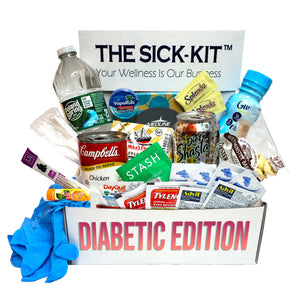 The Sick-Kit Diabetic Edition | The #1 Rated Care Package, Now Sugar Free! | Perfect Gift For Someone Sick and In Need!