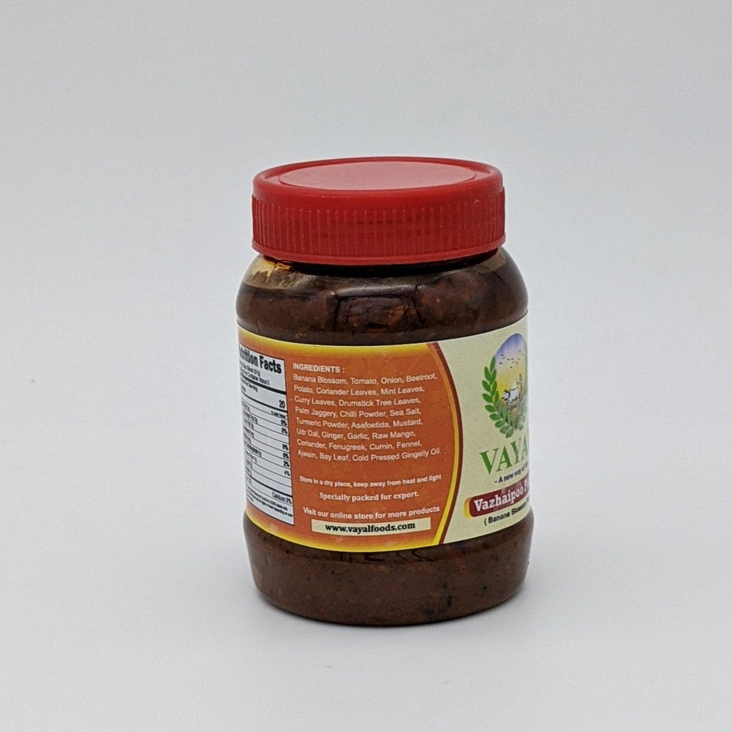 Vazhaipoo Pickle Thokku - Nutrition Facts