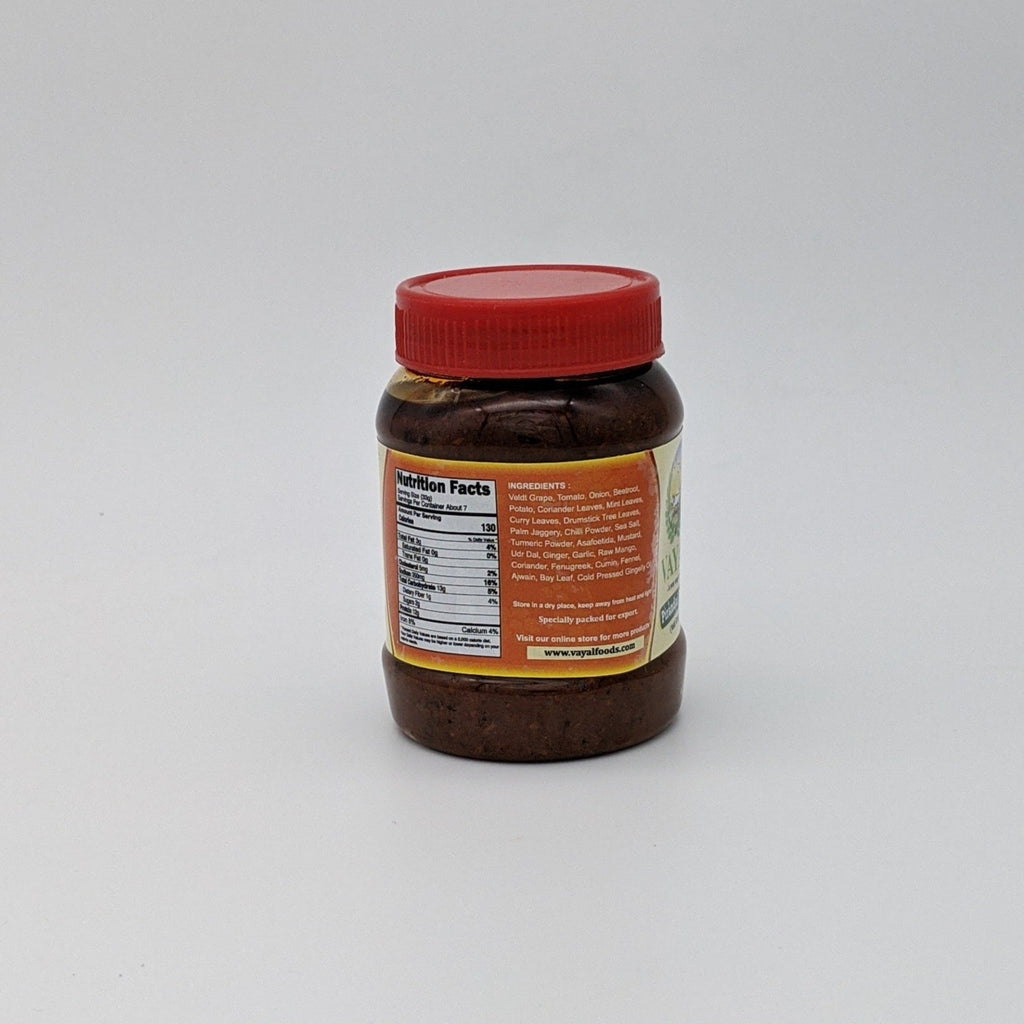 Pirandai Pickle Thokku - Nutrition Facts