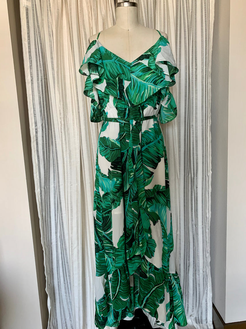 Tropical Maxi Dress (Size M)