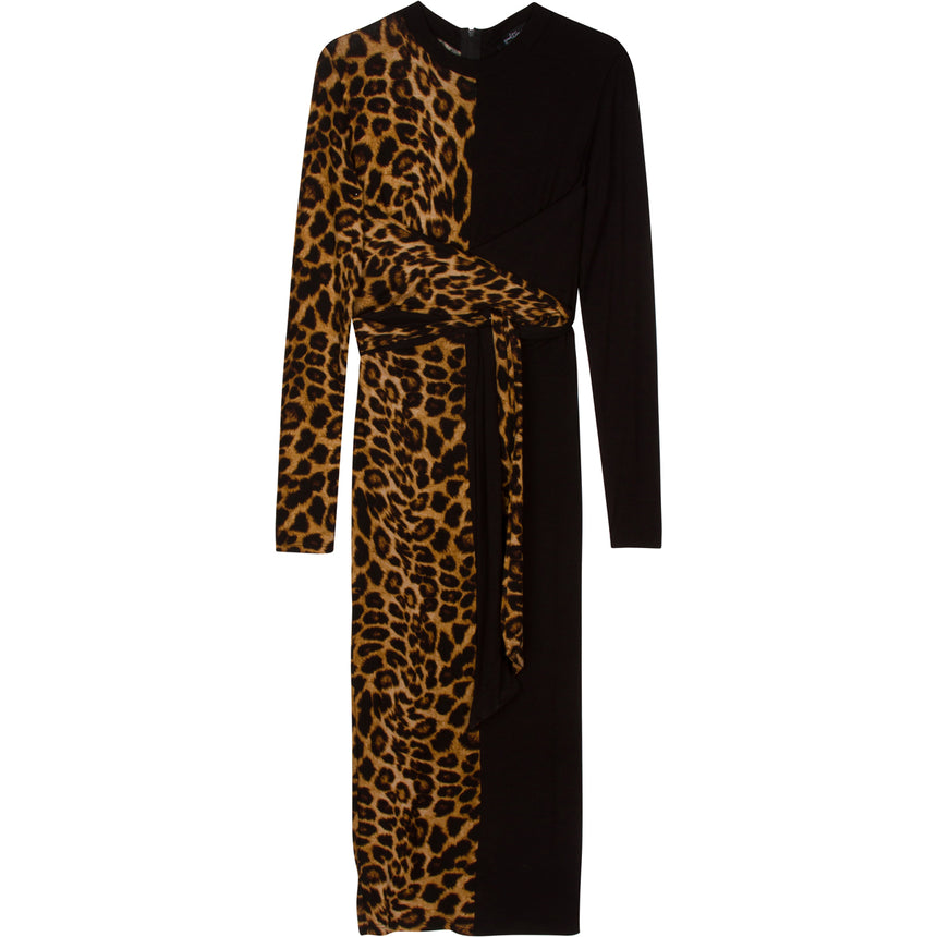 Two Tone Cheetah Dress