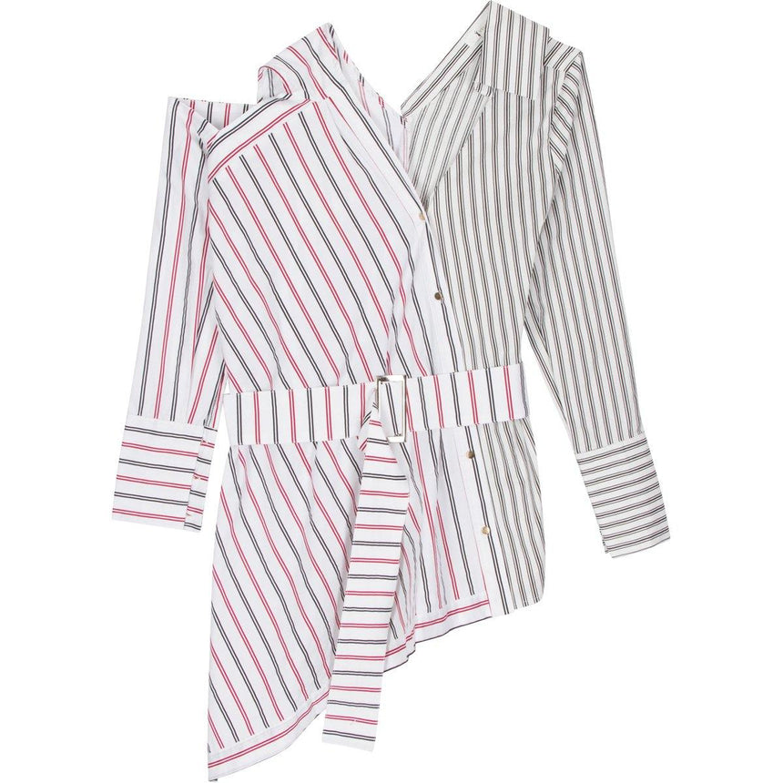 Belted Striped Media Shirt