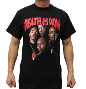 Death Row Records T Shirt  Tupac Dre
