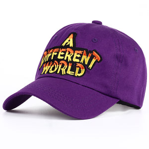 "VINTAGE ""A DIFFERENT WORLD"" DAD HAT"