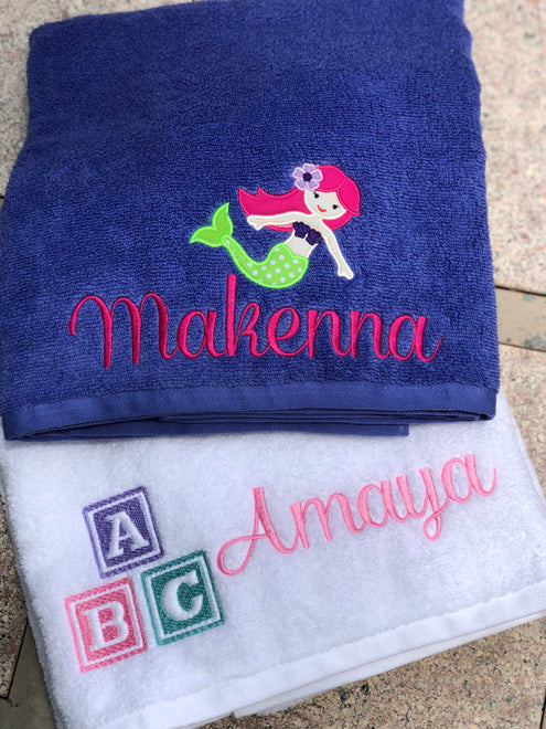 Personalized Character Beach Towels