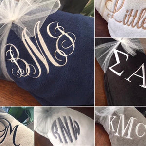 Personalized Monogrammed Throw Blankets