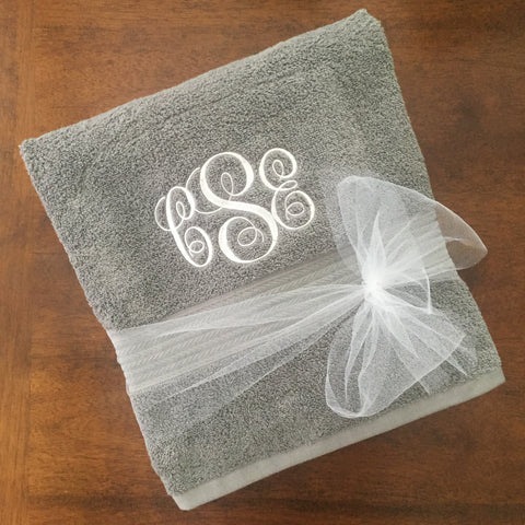 Embroidered Monogramned Personalized Towels