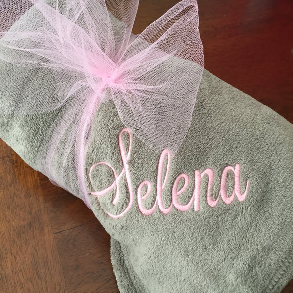Monogrammed Throw Blanket Personalized with Name