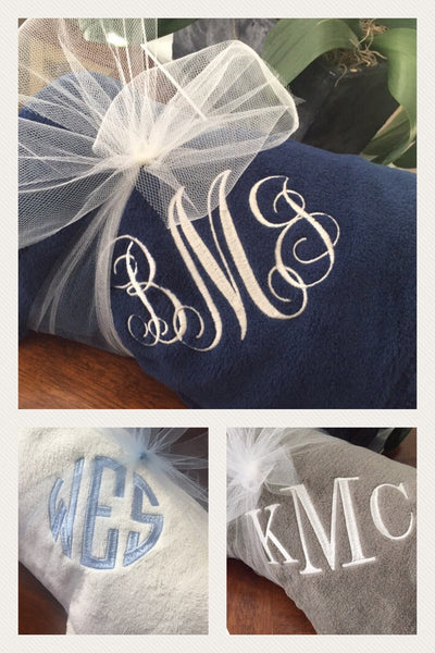 Monogrammed Throw Blanket 3-Initials