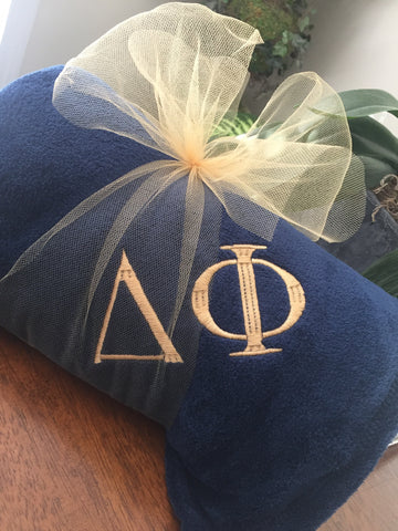 Throw Blanket Sorority Fraternity Greek Letters