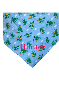 Personalized Dragon Print Fleece Throw Blanket