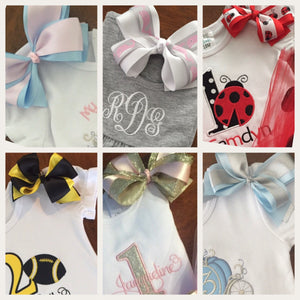 Add On Hair Bow, Shirt Bow, Sneaker Bows