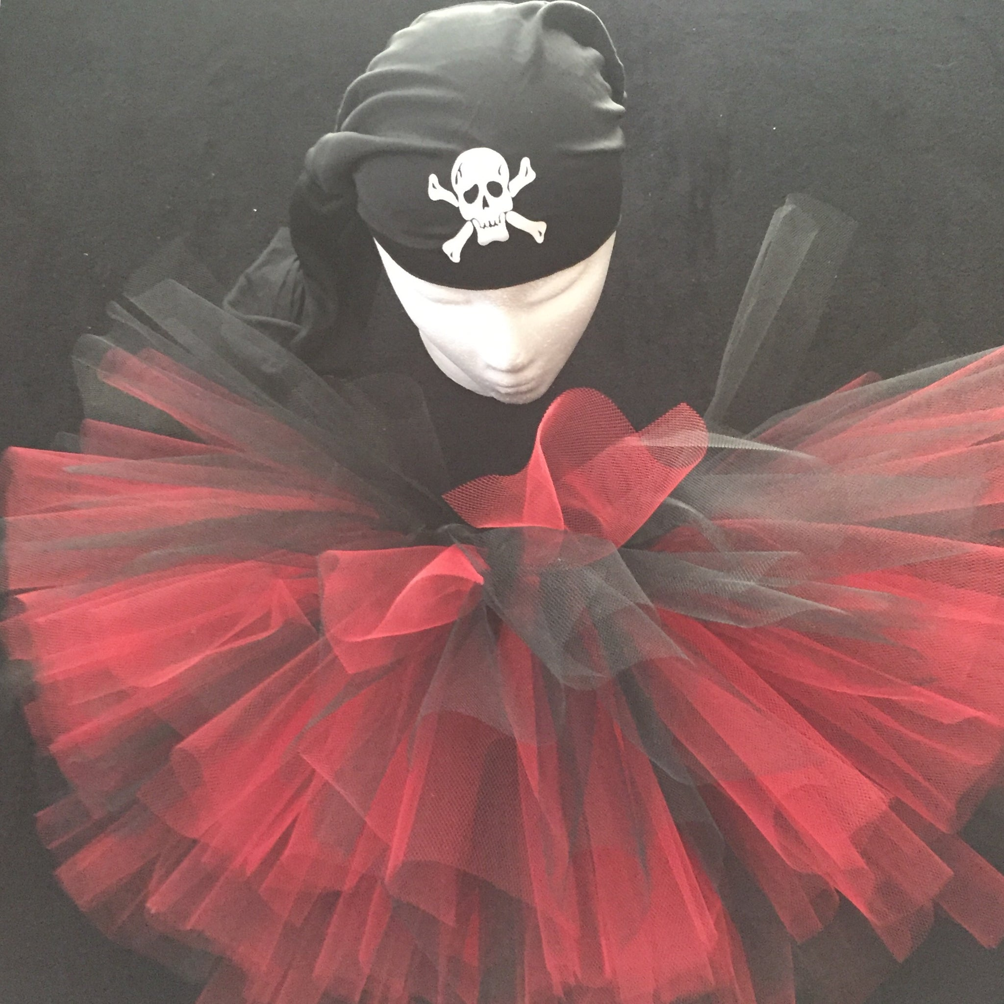 Pirate  Black Skull Cap Tutu Costume