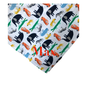 Personalized Safari Animals Print Fleece Throw Blanket