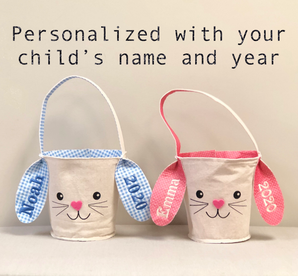 Personalized Canvas Easter Bunny Basket