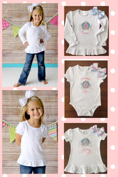 Personalized Embroidered Baby Shark Birthday Shirt
