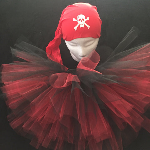 Pirate Red Skull Cap Tutu Costume