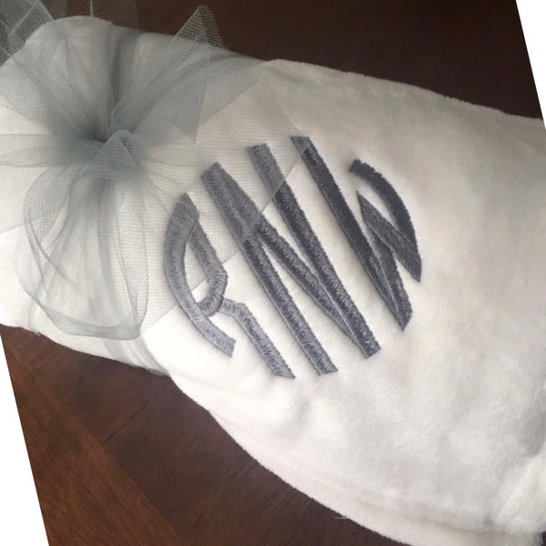 Group Package Throw Blankets 3-Initials