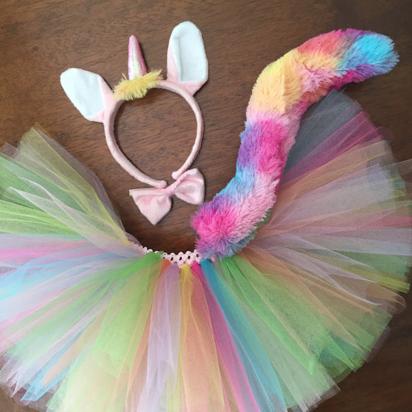 Rainbow Unicorn Tutu Costume