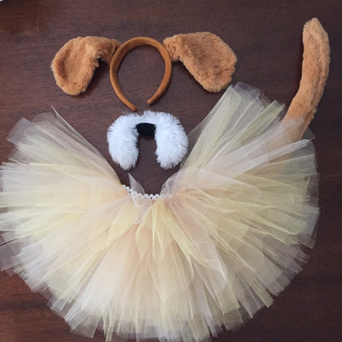 Brown Puppy Dog Tutu Costume