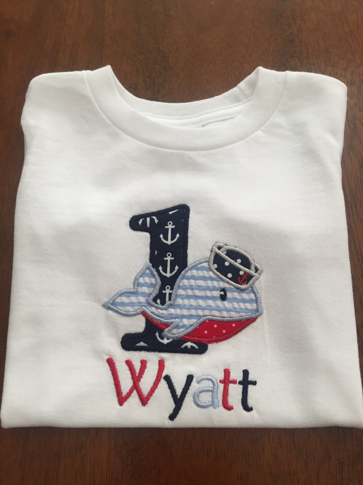 Personalized Whale Birthday Shirt